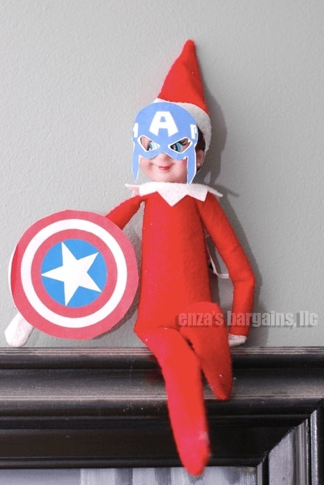 elf-on-the-shelf-captain-america-mask-pose