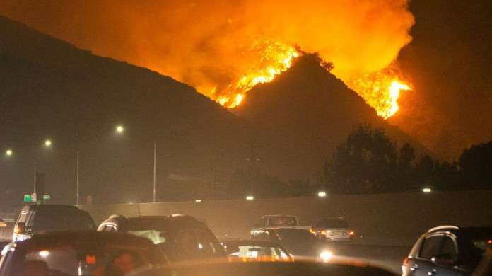 getty fire wildfire california