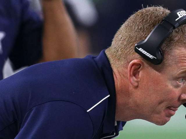 Cowboys Coach Jason Garrett Flagged for Spiking Challenge Flag