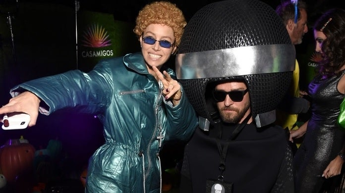 jessica biel justin timberlake halloween getty images