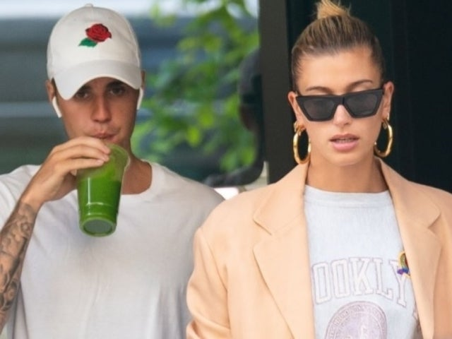 See Exact Moment Justin Bieber and Hailey Baldwin Emerge From Chapel After Getting Married
