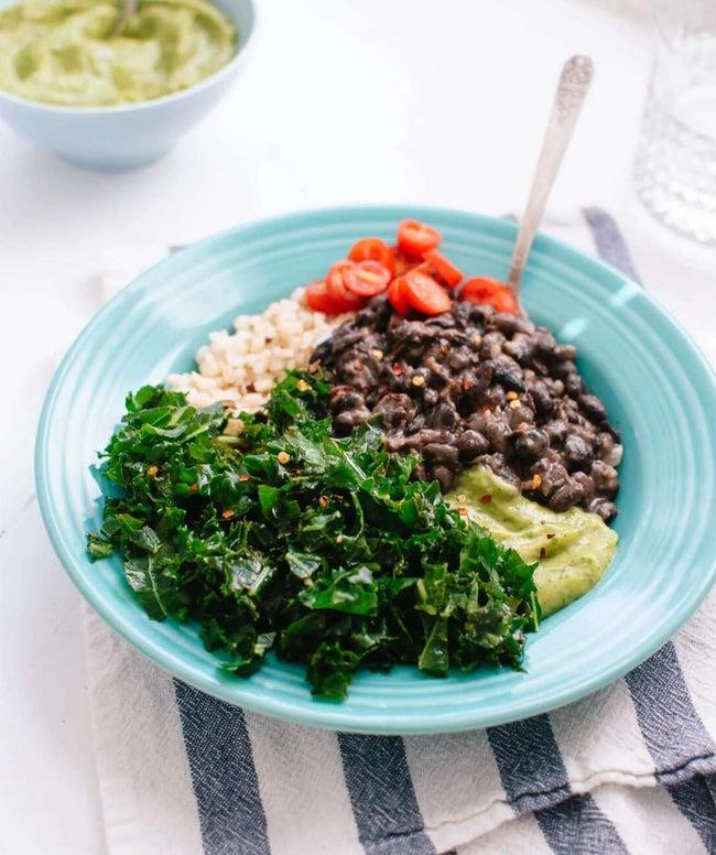 Kale, Black Bean & Avocado Burrito Bowl