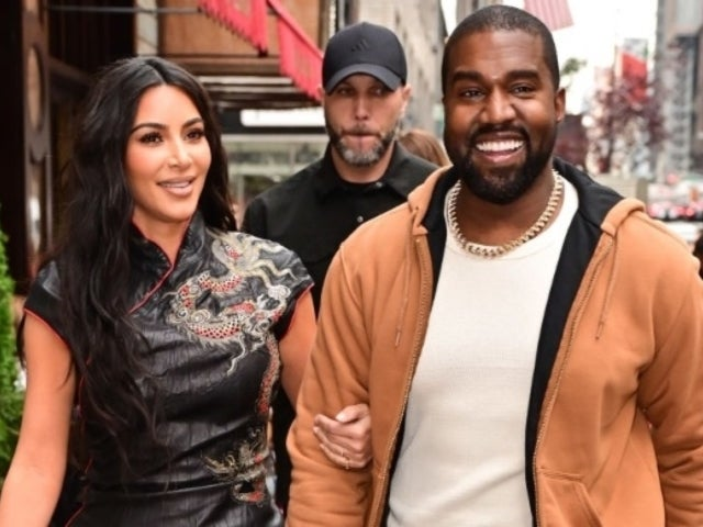 See Kim Kardashian's Blue Chaps Outfit That Has Twitter Talking