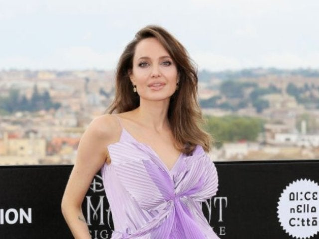 Angelina Jolie's Lavender Dress for 'Maleficent' Screening Has Twitter User Confused