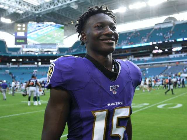 Ravens WR Marquise 'Hollywood' Brown Has Photo of Himself Engraved in SUV Headrests