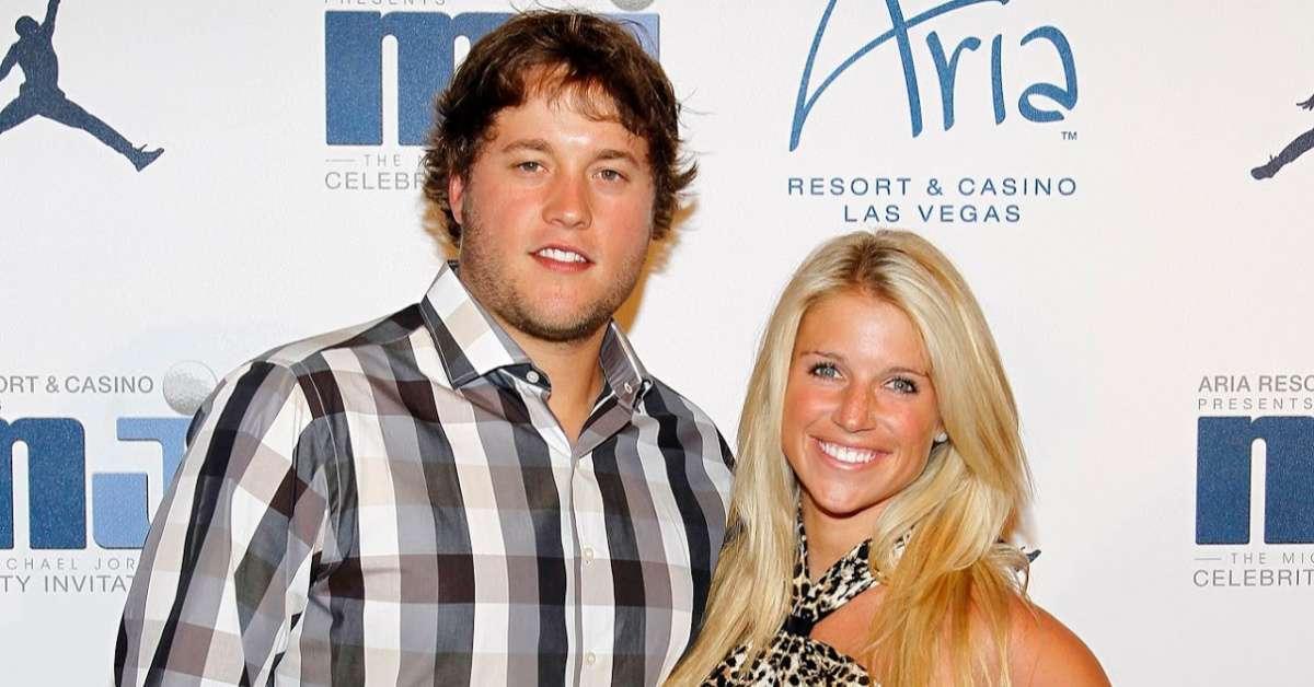 Matthew Stafford wife Kelly rare photos hospital brain tumor surgery