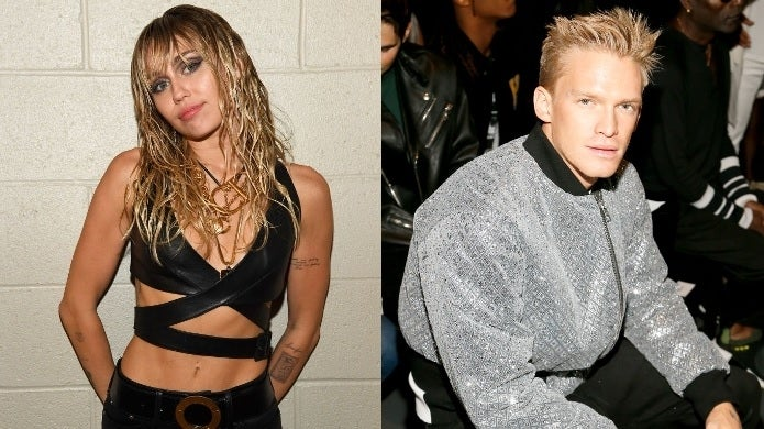 miley cyrus cody simpson getty images