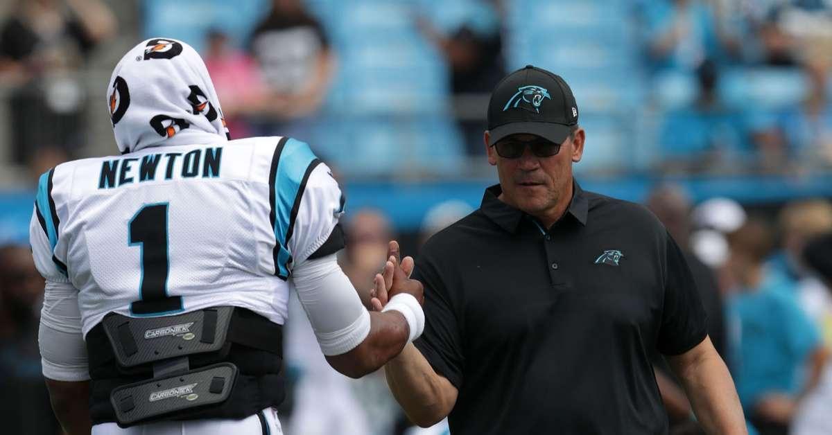 Panthers Ron Rivera gives update on Cam Newton injury bye week