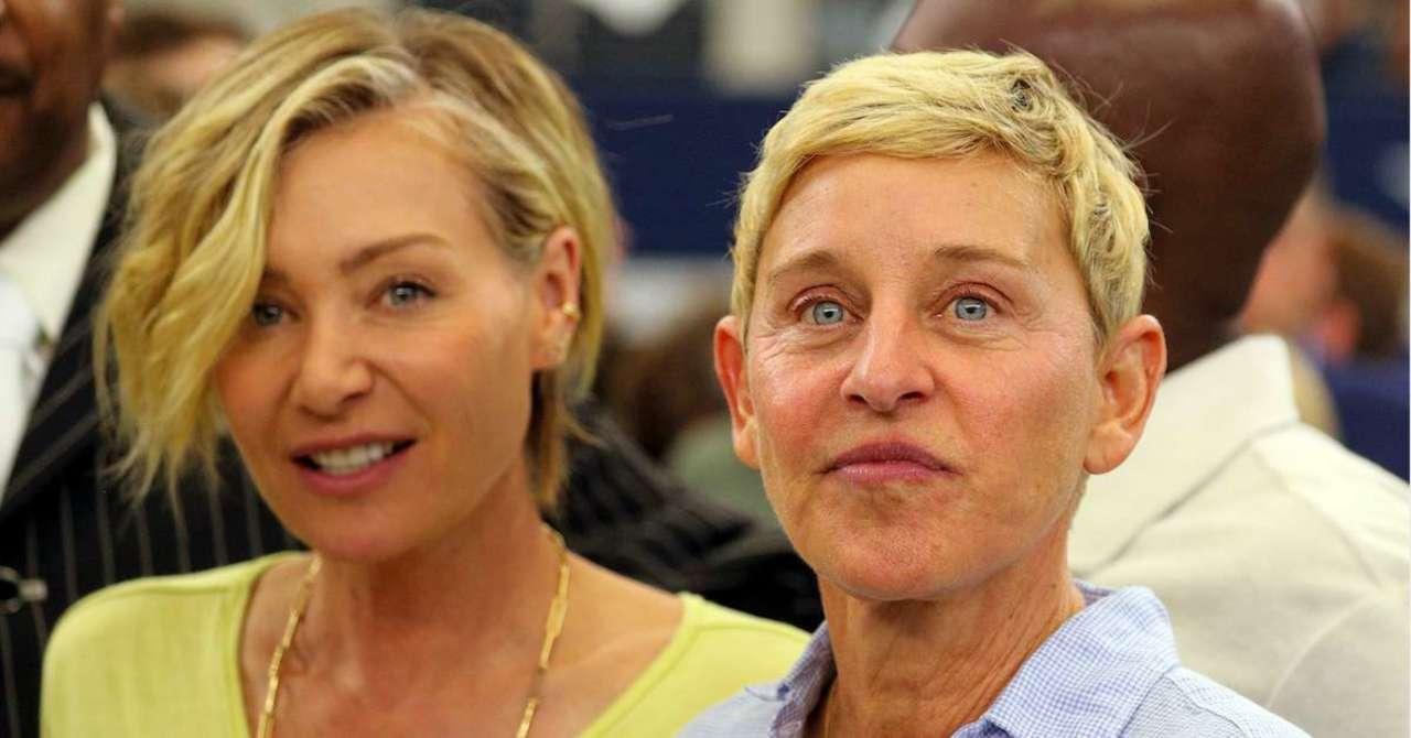 Portia De Rossi Posts Photo Of Ellen Degeneres And Aaron Rodgers Hugging
