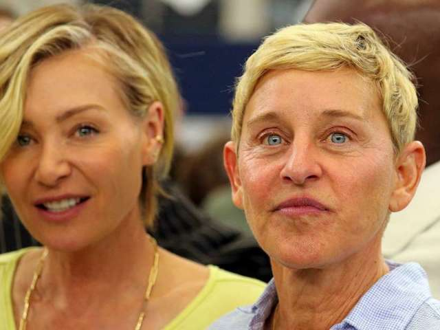 Portia de Rossi Posts Photo of Ellen DeGeneres and Aaron Rodgers Hugging