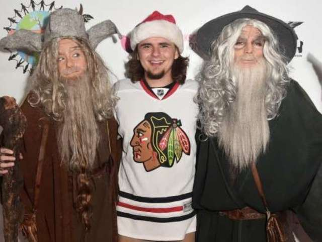 Blanket and Prince Jackson Make Rare Outing to Join Sister Paris at Halloween Party