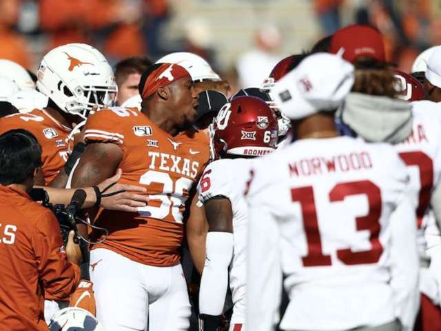 Texas and Oklahoma Both Slapped With Unsportsmanlike Penalties Following Pre-Game Altercation