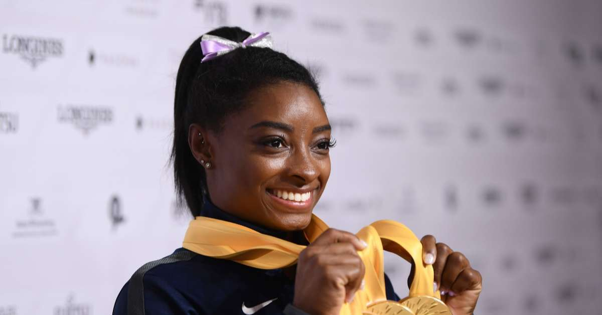 Simone Biles makes history world gymnastics championship medal record