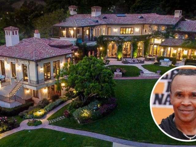 Peek Inside Boxing Legend Sugar Ray Leonard's $52M Sprawling Los Angeles Estate