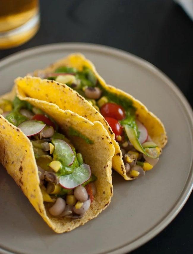 Summer Squash Tacos with Avocado Chimchurri