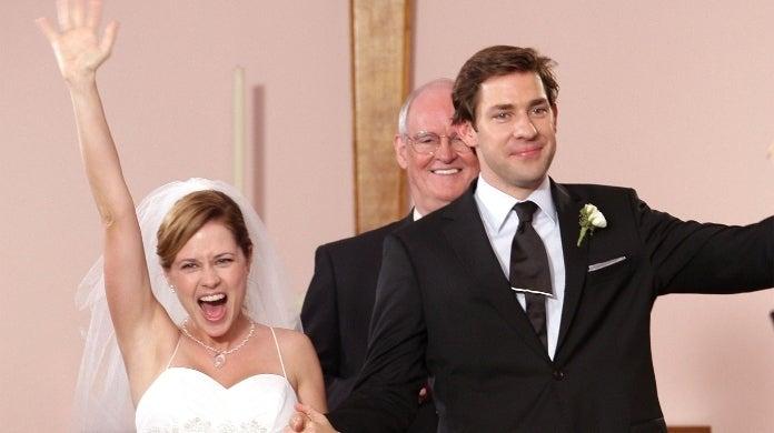 the office jim pam wedding getty images nbc
