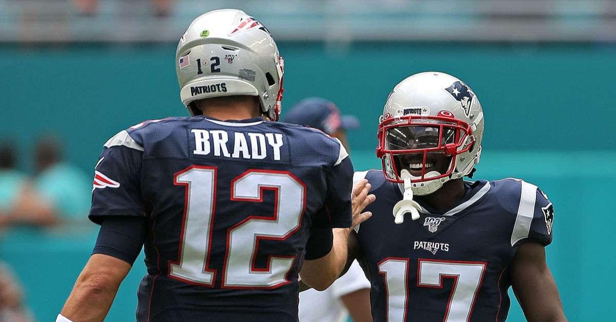Tom Brady Antonio Brown support Instagram post