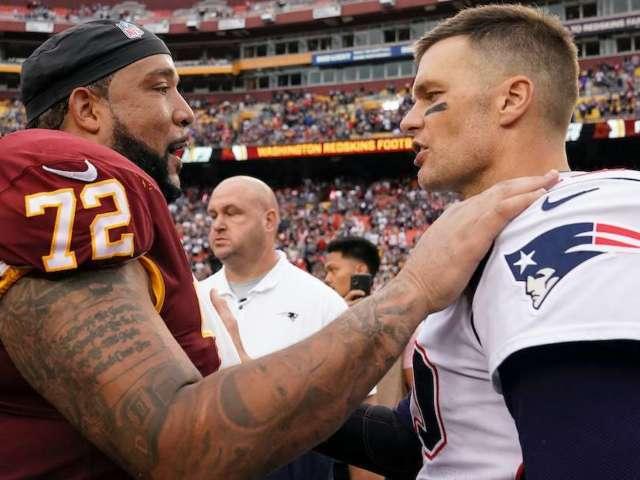 Washington Redskins Players Race to Get Tom Brady's Jersey