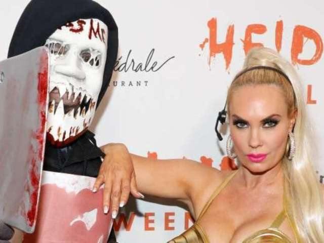 Coco Austin Unveils Epic Madonna Gold One-Piece Costume During Halloween Party