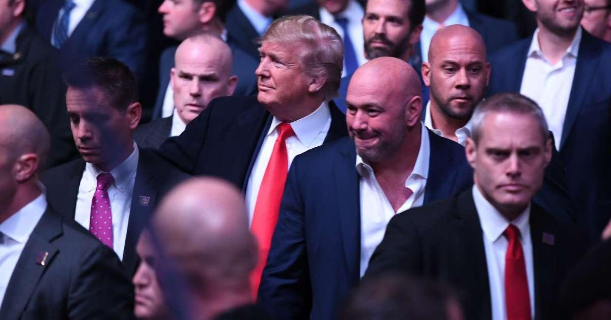 Dana White Donald Trump attend UFC 244