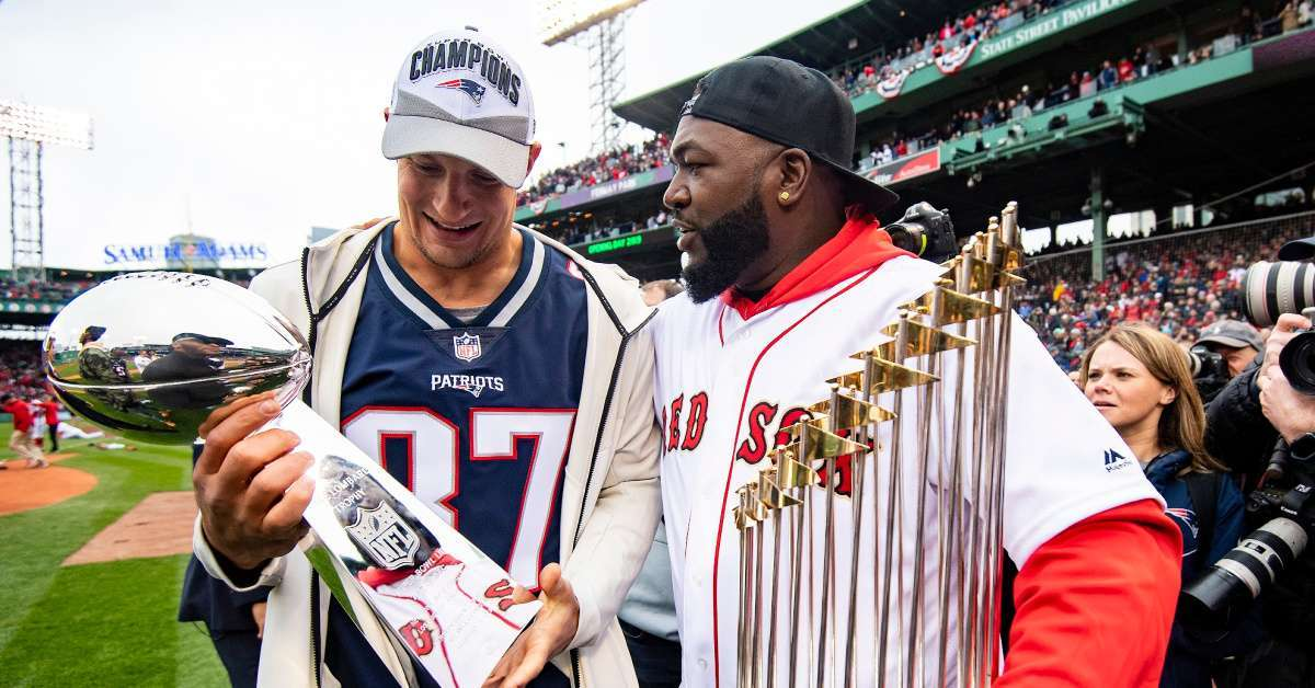 David Ortiz and Rob Gronkowski Work Out on Thanksgiving and Fans Lose It