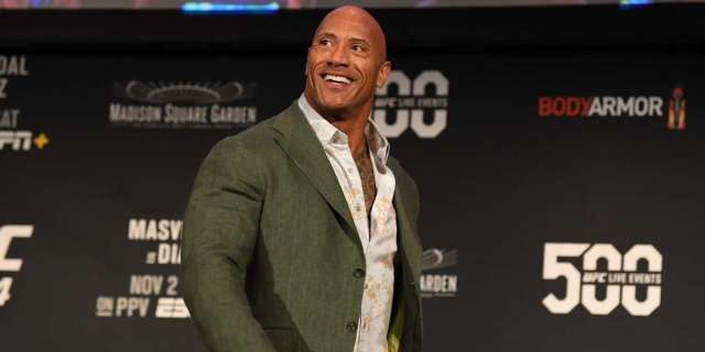 Dwayne 'The Rock' Johnson Reacts to Being Called out by Nate Diaz at UFC 244 - PopCulture.com