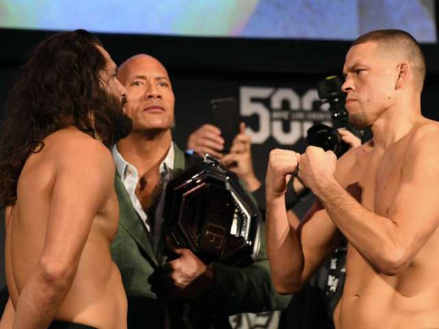 UFC 244: Jorge Masvidal Is Crowned as the 'BMF' by Dwayne Johnson