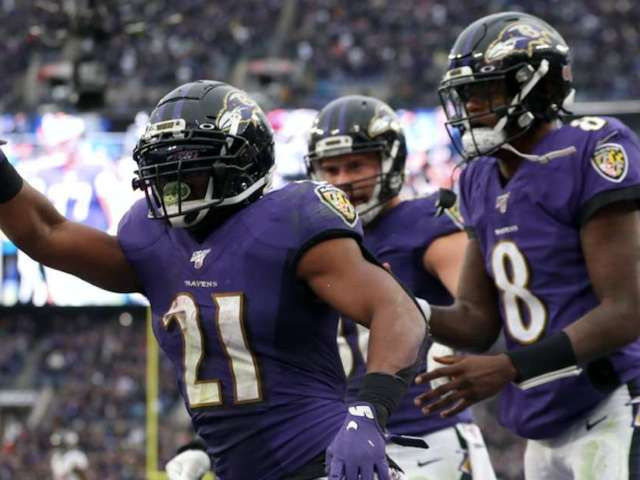 Ravens RB Mark Ingram Serves as Hype Man for Lamar Jackson MVP Bid
