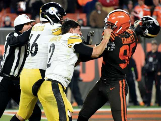 Three Suspended Players From Steelers-Browns Brawl Appealing Punishment