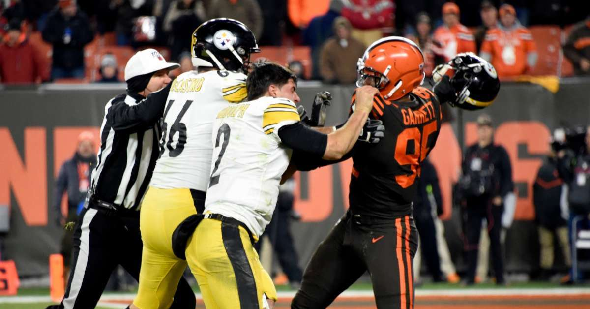 NFL 'Found No Evidence' of Mason Rudolph Saying Racial Slur to Myles Garrett During Helmet Attack