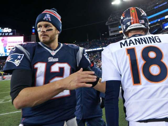 Tom Brady's Halloween Joke About Peyton Manning Leaves Fans Sparring