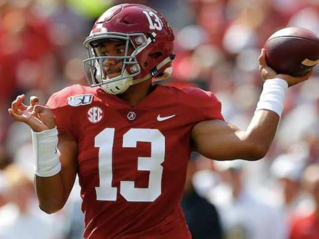 Alabama's Tua Tagovailoa Is Injured, But He's Still on the Sideline Cheering on His Teammates