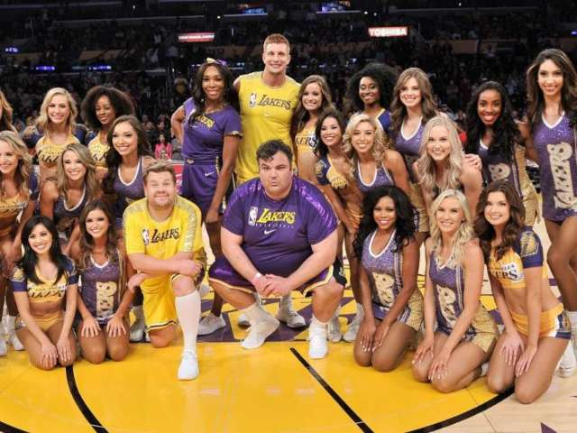 Watch Rob Gronkowski and Venus Williams Perform with Lakers Dancers