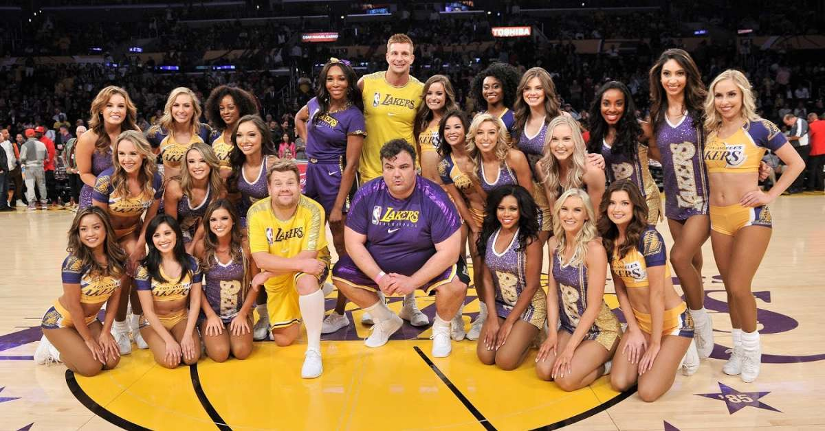 Watch Rob Gronkowski and Serena Williams Perform with Lakers Dancers