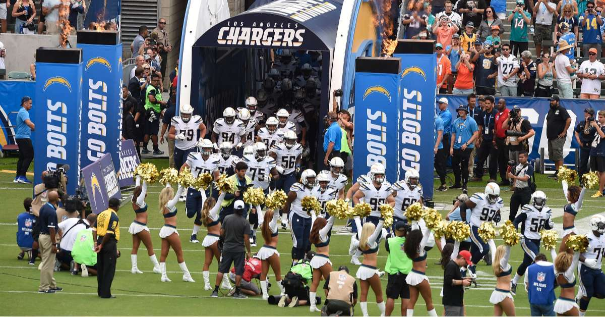 World Series Flashers Attend Los Angeles Chargers Game, Get Field Access