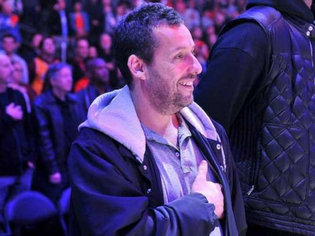 Adam Sandler Shows off Basketball Skills Prior to Appearance on ESPN's 'The Jump'