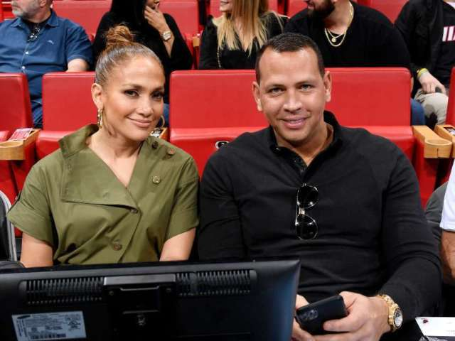 Watch: Alex Rodriguez and Jennifer Lopez Cut up Courtside at Lakers vs. Heat