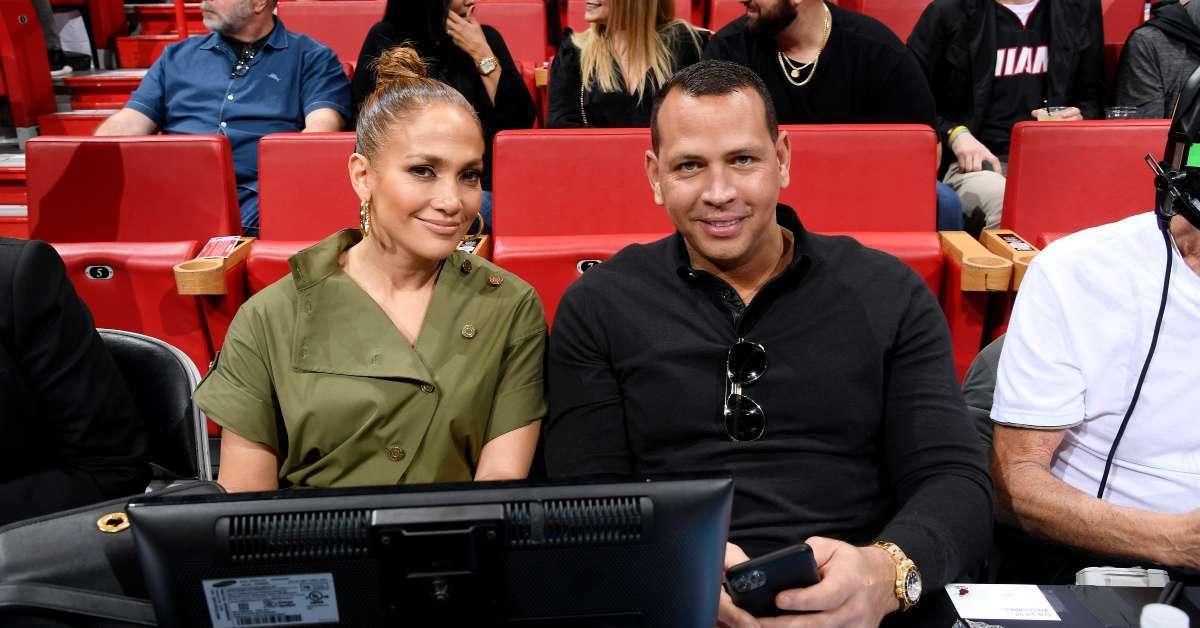 Alex Rodriguez Jennifer Lopez cut up Lakers Heat
