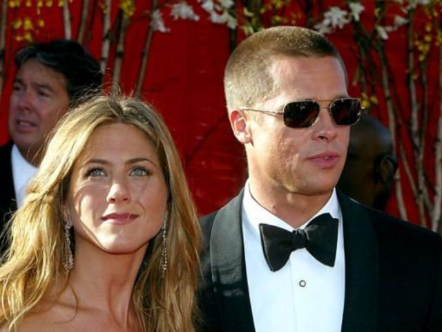 Brad Pitt Reunites With Ex Jennifer Aniston at Her Christmas Party