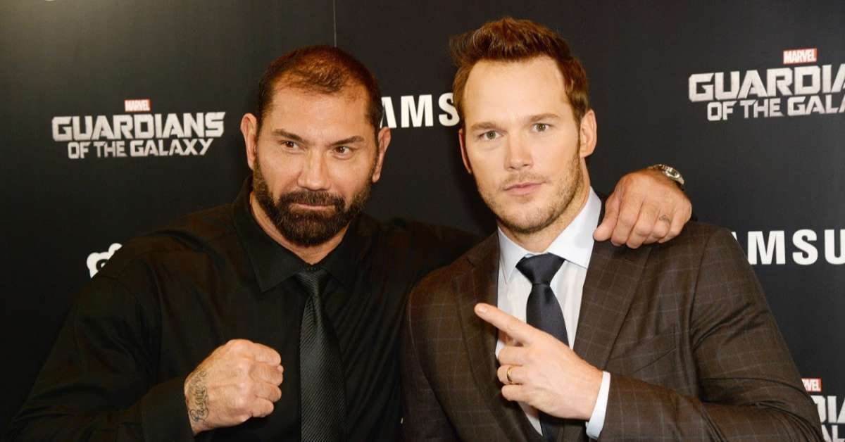 Chris Pratt Sends Dave Bautista a Message After Hearing About His WWE Hall of Fame Honor