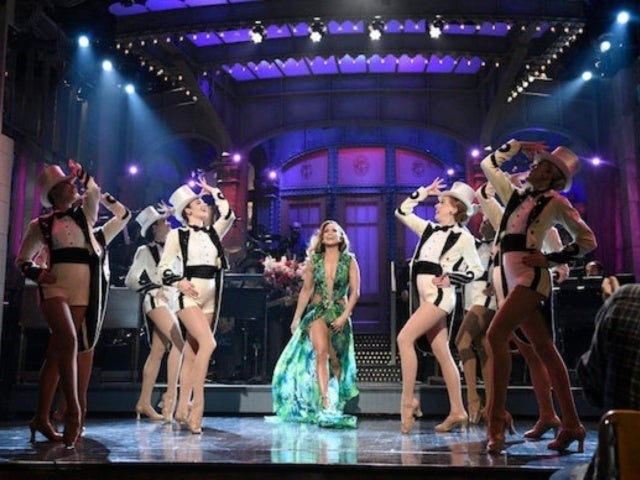 'SNL': Jennifer Lopez Stuns With Rockettes and Versace Dress in Opening Monologue