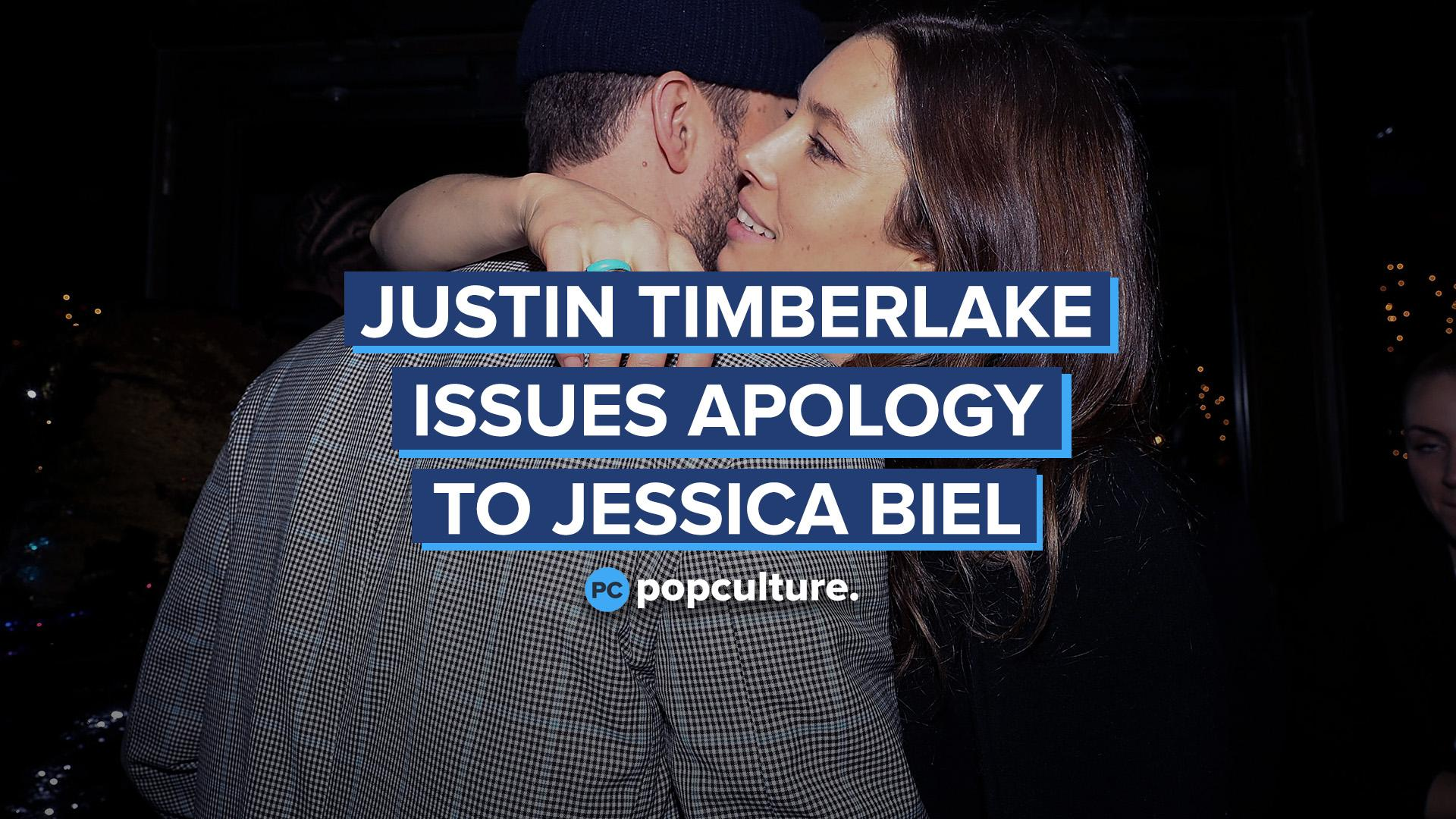 Justin Timberlake Issues Apology to Wife Jessica Biel Following Scandal screen capture