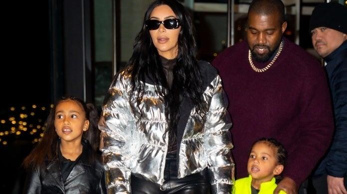 kim kardashian kanye west family getty images