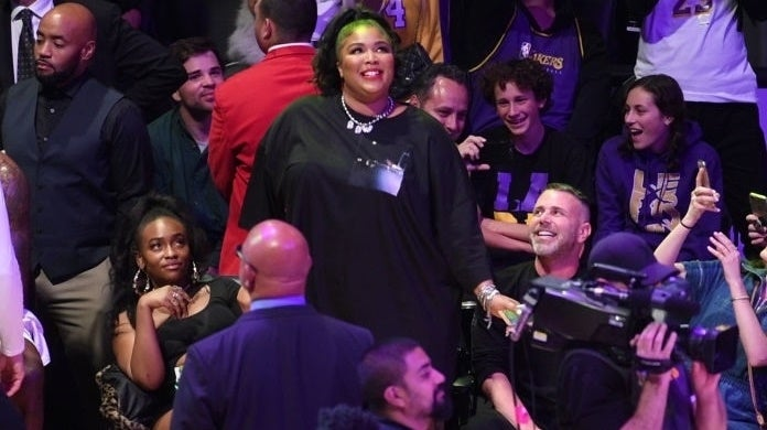 lizzo lakers getty images
