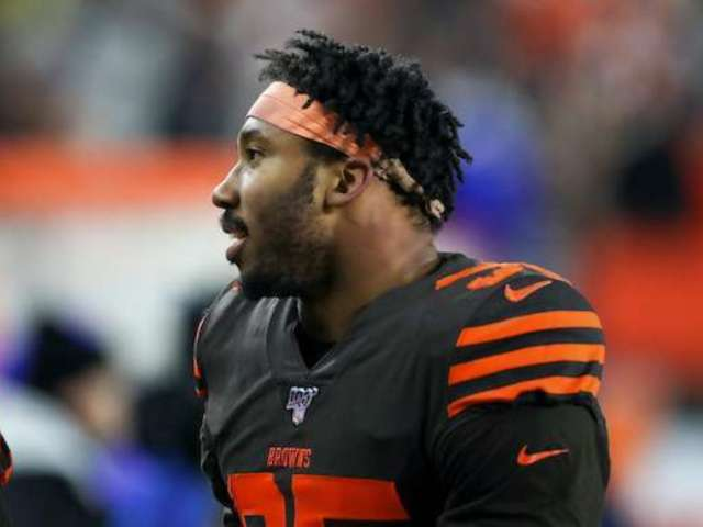 Browns' Myles Garrett Spotted at Great Grandma's 100th Birthday Celebration Amid Suspension