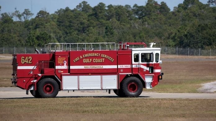 navy-fire-truck-pensacola-naval-air-station_gettEducation Images : Contributor