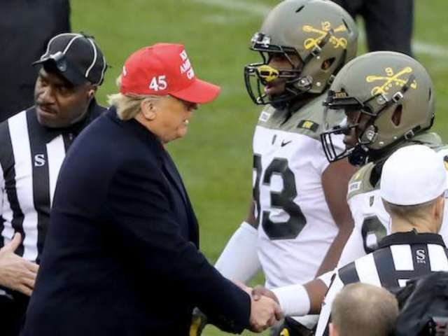 Donald Trump Cheered During Coin Toss at 120th Army-Navy College Game