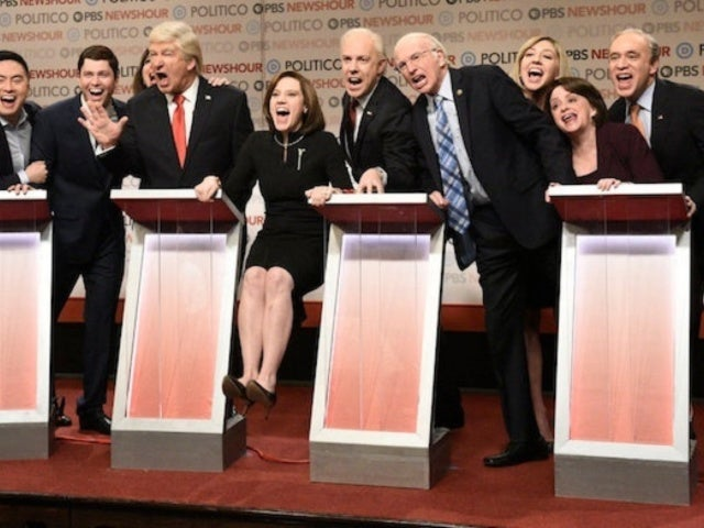 'SNL' Cold Open Parodies Latest 2020 Democratic Debate With Fred Armisen, Larry David, Jason Sudeikis, Maya Rudolph