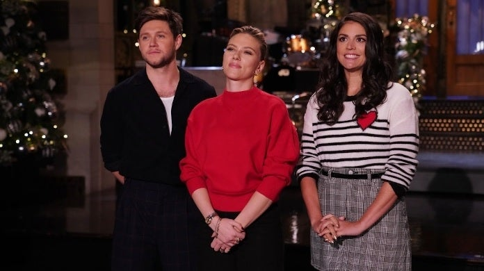 snl scarlett johansson niall horan getty images nbc
