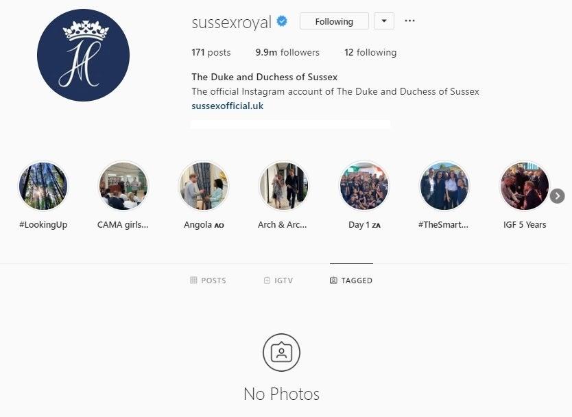 sussex royal instagram